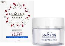 """Lumene Kuulas Midnight Beauty Firming Night Cream - Нощен стягащ крем за лице от серията """"Kuulas"""" - спирала"""