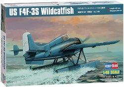 Американски изтребител - F4F-3S Wildcatfish - Сглобяем авиомодел -