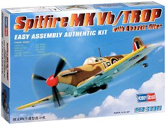 Британски изтребител - Spitfire MK Vb / Trop - Сглобяем авиомодел -