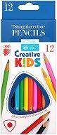 """Цветни моливи - Комплект от 12 цвята от серията """"Creative Kids"""""""
