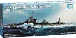 Военен кораб - Zerstorer Z-37 1943 - Сглобяем модел -