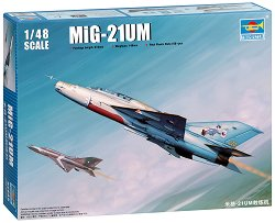 Руски свръхзвуков изтребител - МиГ-21УМ - Сглобяем авиомодел -