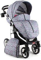 Комбинирана бебешка количка - Vero - С 4 колела -