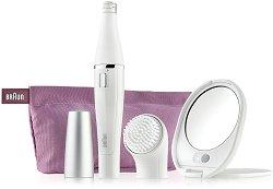 Braun Face 830 Epilation & Cleansing - Система за грижа за лицето с епилатор и четка за почистване - пудра