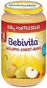 Bebivita - Пюре от круши Уилямс Крист - Бурканче от 250 g за бебета над 4 месеца - пюре