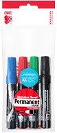 Перманентни маркери с объл връх - Ico 11 - Комплект от 4 броя