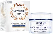"Lumene Valo Overnight Bright Sleeping Cream - Нощен крем за лице с витамин C от серията ""Valo"" - крем"