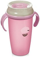 Преходна чаша с дръжки - Retro Baby: 350 ml - За бебета над 14 месеца -