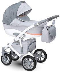 Бебешка количка 2 в 1 - Sirion 2017 - С 4 колела -