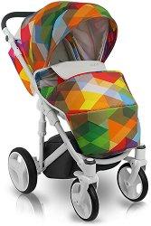 Бебешка количка 2 в 1 - Cube - С 4 колела -