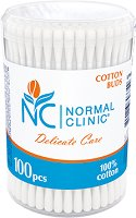 Normal Clinic Delicate Care Cotton Buds - Клечки за уши в кутия от 100 ÷ 300 броя - тампони