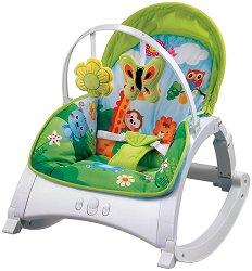 Бебешки шезлонг - Enjoy - С вибрация и мелодии - продукт
