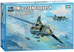 Руски бомбардировач - МиГ-23 БН Flogger H - Сглобяем авиомодел -