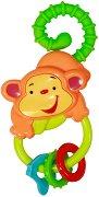 Дрънкалка - Маймунка - Бебешка играчка с дъвкалка - играчка