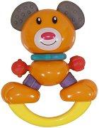 Дрънкалка - Мече - Бебешка играчка с дъвкалка - играчка