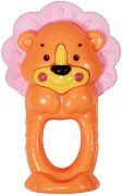 Дрънкалка - Лъвче - Бебешка играчка с дъвкалка -