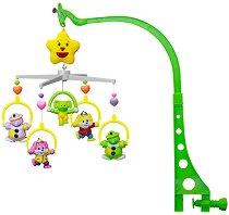 Музикална въртележка - Клоуни - Играчка за бебешко креватче - играчка