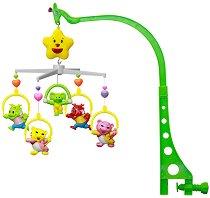 Музикална въртележка - Джунгла - Играчка за бебешко креватче -