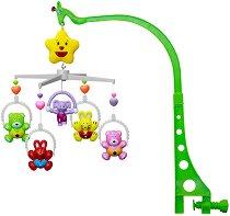 Музикална въртележка - Мечета и зайчета - Играчка за бебешко креватче -