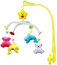 Музикална въртележка - Делфини и мечета - Играчка за бебешко креватче -