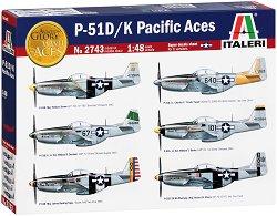 Американски изтребител - P-51D/K Pacific Aces - Сглобяем авиомодел -