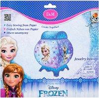 Направи сама кутия за бижута - Замръзналото кралство - Творчески комплект - образователен комплект