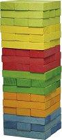 Дженга - Игра с дървени елементи за подреждане - играчка