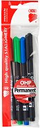 Перманентни маркери - Ico OHP S 0.3 mm - Комплект от 4 цвята