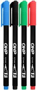 Перманентни маркери - Ico OHP F 0.5 mm - Комплект от 4 броя