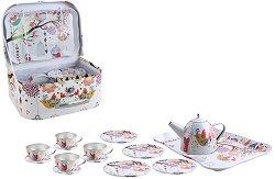 Метален сервиз за чай - Детски комплект за игра - детски аксесоар