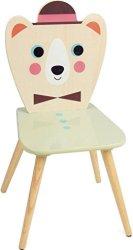 Детско дървено столче - Мече -