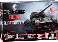 """Съветски танк - T-34/85 - Сглобяем модел от серията """"World of Tanks: Roll Out"""" -"""