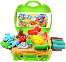 Направи сам - Динозаври - Творчески комплект с моделин - играчка