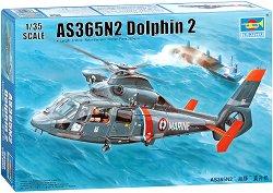Френски многоцелеви хеликоптер - AS366N2 Dolphin 2 - Сглобяем авиомодел - макет