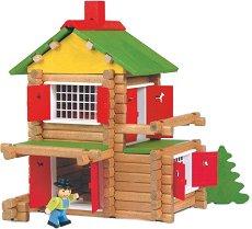 Къща - Дървен конструктор - творчески комплект
