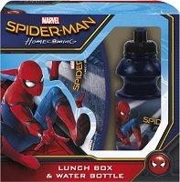 Комплект бутилка и кутия за храна - Спайдърмен - кукла