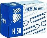 Кламери - Ico H 50 - Комплект от 100 броя