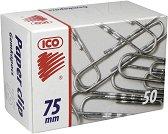 Кламери - Ico 7.5 cm - Комплект от 50 броя