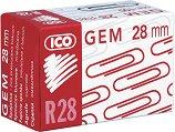 Медни кламери - Ico R 28 - Комплект от 100 броя