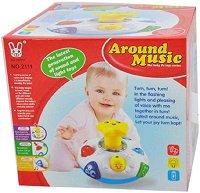 Бебешка играчка - Звезда - С музикален ефект и светлинен ефект -
