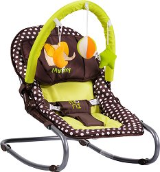 Бебешки шезлонг - Manny - С вибрация и мелодии - продукт