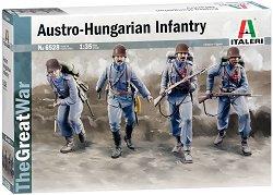 Австро-Унгарска пехота от Първата световна война - Сглобяем комплект от 4 фигури на войници и аксесоари - макет