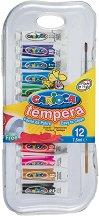 Темперни бои - Комплект от 12 цвята х 7.5 ml - продукт