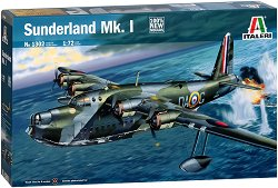 Британски патрулен бомбардировач - Short Sunderland Mk.I - Сглобяем авиомодел -
