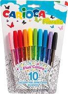 Цветни химикалки - Fiorella - Комплект от 10 цвята