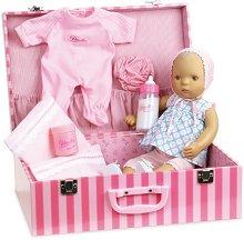 Кукла бебе - Лили - Комплект в куфар с аксесоари -