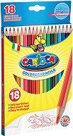 Цветни моливи - Комплект от 18 цвята с острилка