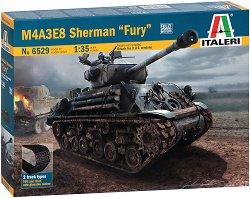 Американски танк - M4A3E8 Sherman Fury - Сглобяем модел - макет