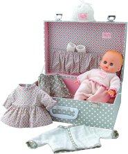 Кукла бебе - Petit Calin - Комплект с куфар и аксесоари -