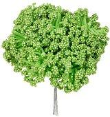 Декоративен елемент - Зелен храст - Комплект от 12 броя